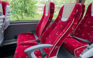 red coach seats