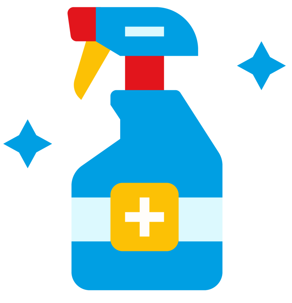 blue spray bottle icon
